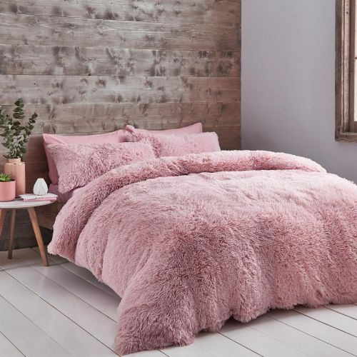 Catherine Lansfield Cuddly Blush Bedding Set